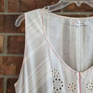 Johnny Was Dresses - 3J Workshop Embroidered Handkerchief Hem Dress